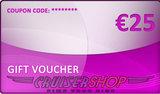 Gift voucher Cruisershop value 25 euro_