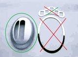 Chromen ring automaat pook_