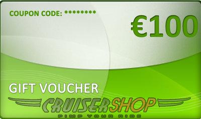 Gift voucher Cruisershop value 100 euro
