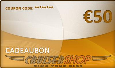 Cadeaubon Cruisershop 50 euro