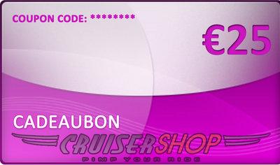 Gift voucher Cruisershop value 25 euro