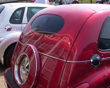 Rear oval and split window panel