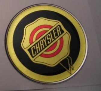 3D sticker Chrysler rond 50mm