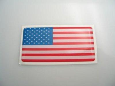3D sticker USA 40x20mm