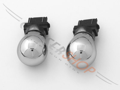 Chromen knipperlicht lampjes